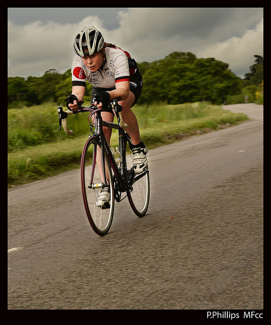 Penny Phillips racing the Cawdor course